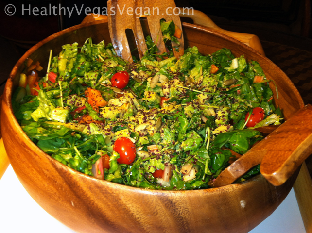 My giant calabash bowl that holds a pound of greens just for me and makes a salad feel like an occasion!