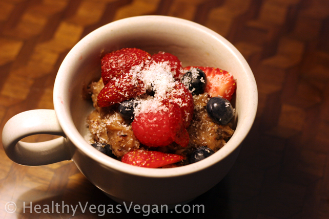 Fig Pudding with berries
