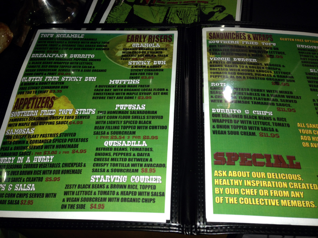 14. Winnipeg Mondragon menu