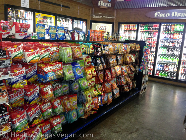 Road trip convenience store selection