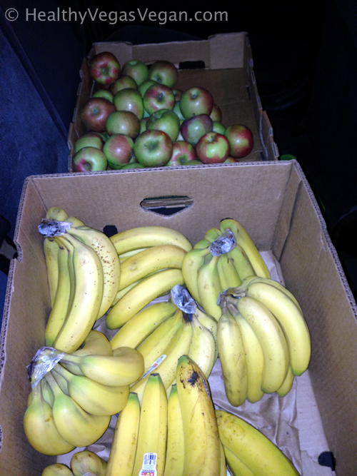 Apple and banana boxes road trip