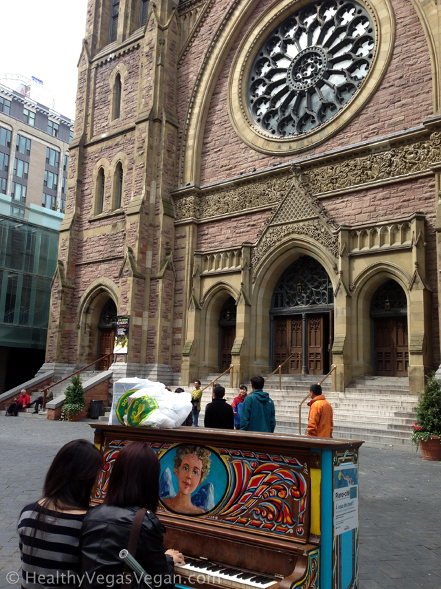Montreal Cathedral and piano