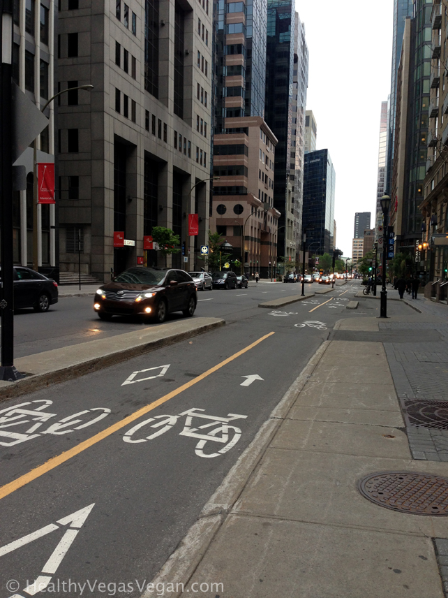 Montreal streets bike lane