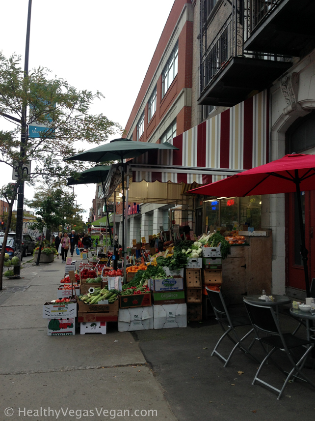 Montreal streets fruit market
