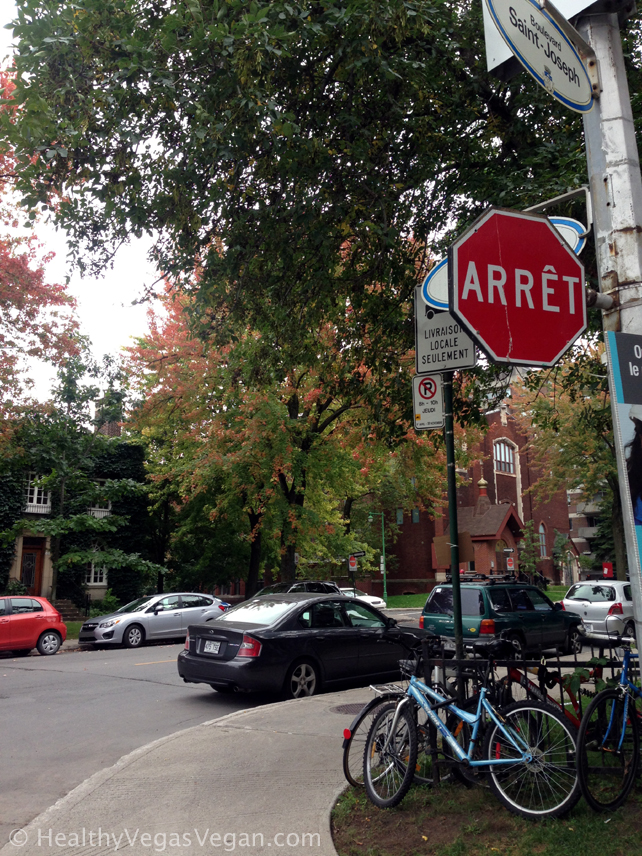 Montreal streets stop sign