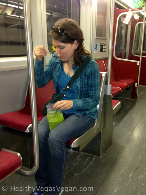 Subway - Green smoothie in a bag