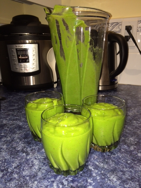 Kathy made my Basic Green Smoothie to share.