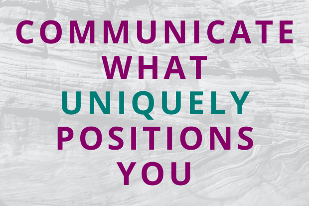 #182 Communicate What Uniquely Positions You